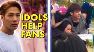 Kpop Idols Helping \u0026 Protecting Fans