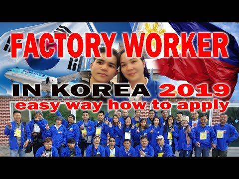 FACTORY WORKER IN KOREA 2019:Easy Way How To Apply