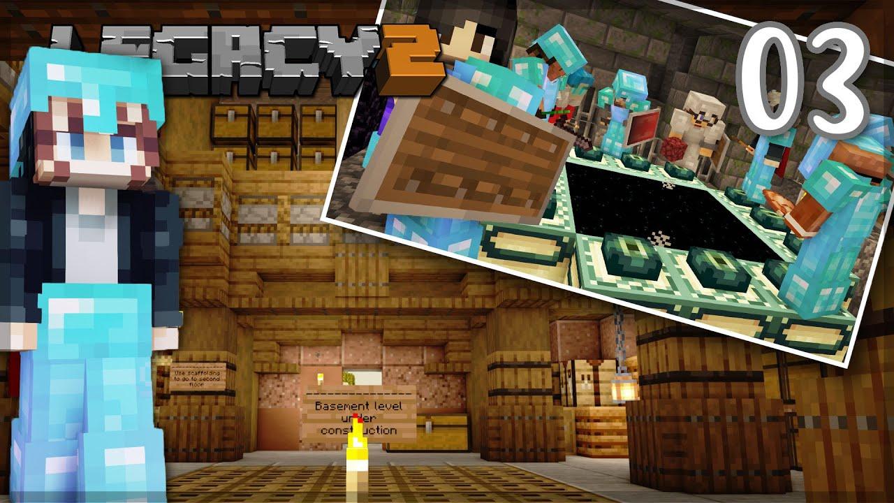 Building, Bastion Raids and Dragon Time! | LegacySMP: Episode 03 1.16 Minecraft Survival Let's Play