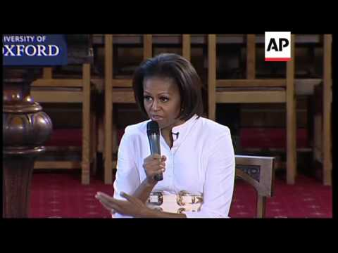 Michelle Obama tells youngsters to work hard for success