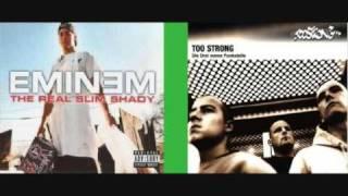 Eminem - The real Slim Shady  VS  Too Strong - 2 von 7 aus 98 (Rhythm is a dancer beat) [Mash up]