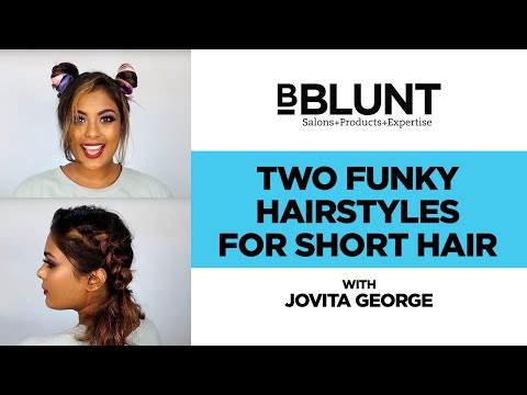 How To Get Two Easy And Funky Hairstyles For Short Hair | Jovita George