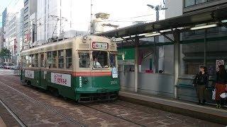 広島電鉄1900形1904号『かも川』2号線西広島行き 紙屋町東到着