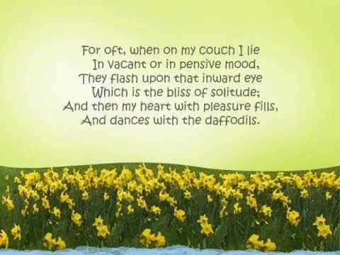 I Wandered Lonely as a Cloud / Daffodils - William Wordsworth [JustReadings]