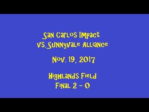 2017-11-19 San Carlos Impact vs Sunnyvale: Drone