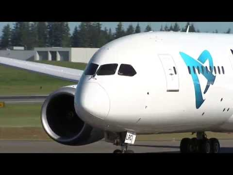 Boeing 787 Air Austral Time Lapse