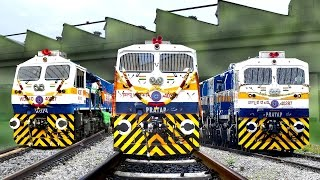 Commissioning the New LOCOMOTIVE   2000th EMD   KJM Diesel Shed   Indian Railways