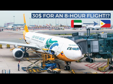 TRIPREPORT ($30 for an 8h flight!) | Cebu Pacific (ECONOMY) | Airbus A330-300 | Dubai - Manila