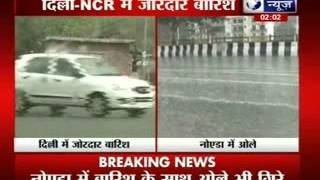 Hailstones in Noida: People felt relaxed as temperature lowers