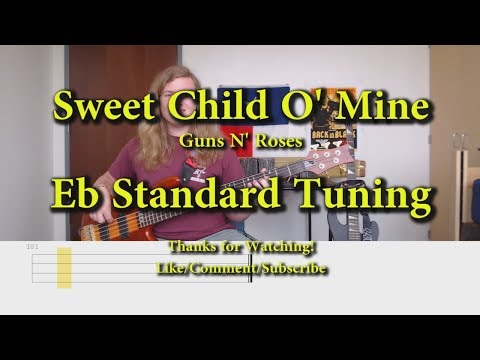 Sweet Child O' Mine - Guns N' Roses (Bass Cover With Tabs)