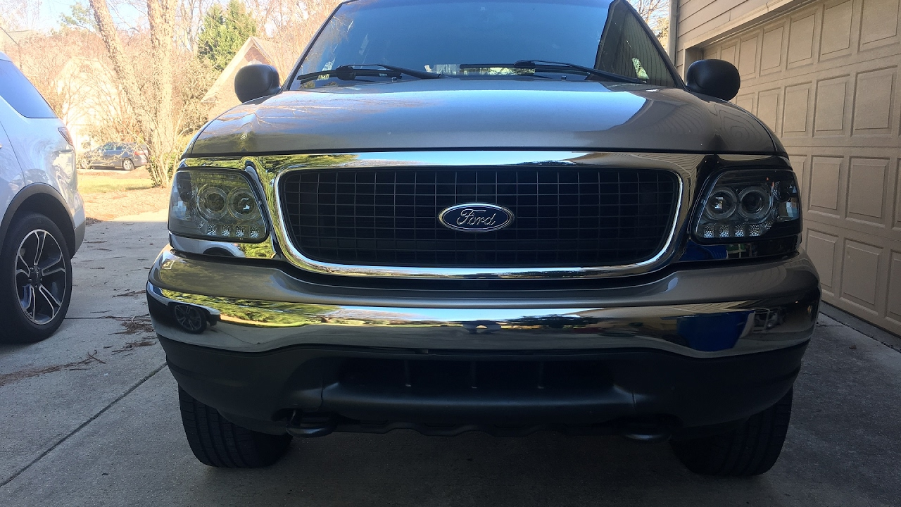 hight resolution of replace headlights with halos in 1997 2002 f 150 expedition