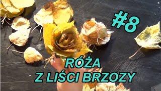 Ozdoby #8- Róża z liści brzozy