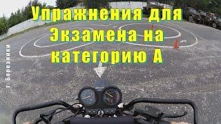 Упражнения для Экзамена на категорию  А  Patron Partizan 150(, 2015-07-13T15:58:27.000Z)