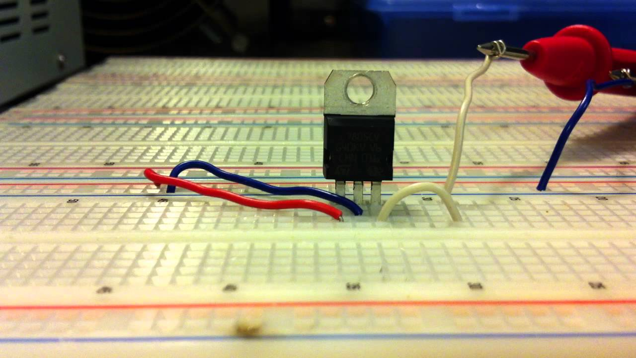 How To Connect A Voltage Regulator By Ste Youtube Picture Of Versatile With Lm317 Electronicprojects Electronic