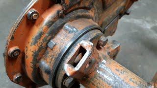 Remont glebogryzarki KUBOTA RL1401 & YANMAR F24D - część II czyszczenie i malowanie