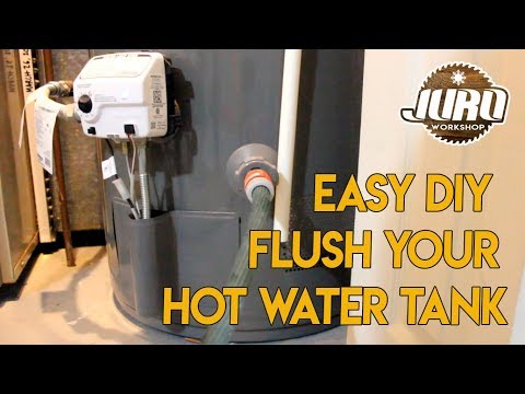 Hot Water Tank | Rheem Performance Plus | How To Flush The Water | Easy DIY | JURO Workshop