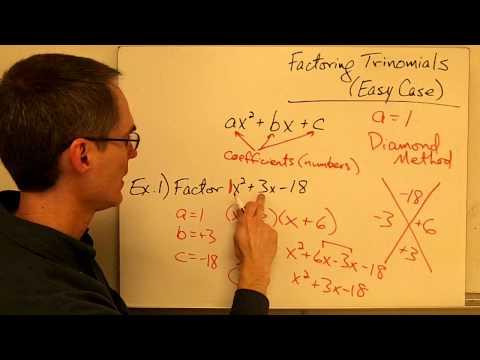 Factoring Trinomials (ax^2 + bx + c) using Diamond & XBox