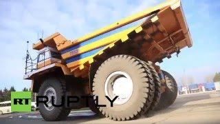 Belarus: Move over love-boat, take a Valentine's spin in the world's BIGGEST dump truck
