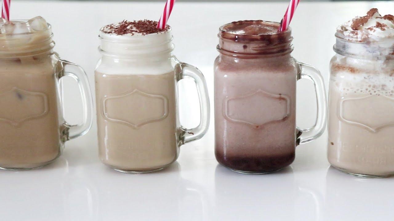 اربع انواع من القهوة الباردة 4 Iced Coffee Recipes Youtube