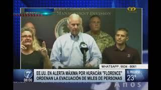 Estados Unidos en alerta máxima por huracán ''Florence''