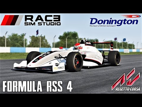 Race Sim Studio Formula RSS 4 HOTLAP at Donington National - Assetto Corsa (Mod Download)
