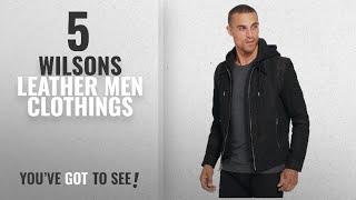 Top 10 Wilsons Leather Men Clothings [ Winter 2018 ]: Wilsons Leather Mens Vintage Hooded Genuine