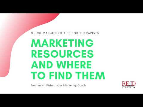Marketing Resources for Growing a Private Practice