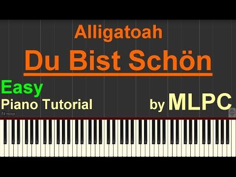 Alligatoah - Du bist schön (Easy Version) I Piano Tutorial by MLPC