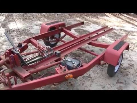 Motorcycle Trailer From Scrap Hydraulic Built From Junk