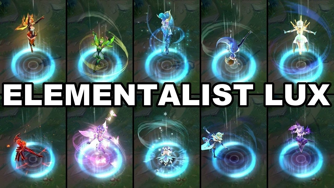 ELEMENTALIST LUX - NEW LEGENDARY SKIN - LIGHT&WATER&ICE FORM - YouTube
