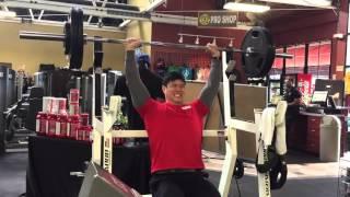 Shoulder press 245 lbs for 2