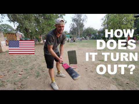 American Baseball Player PLAYS CRICKET IN INDIA!