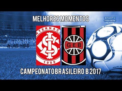 Gols - Internacional 1 x 0 Brasil de Pelotas (HD) l Brasileirão serie B 2017 l 09/10/2017