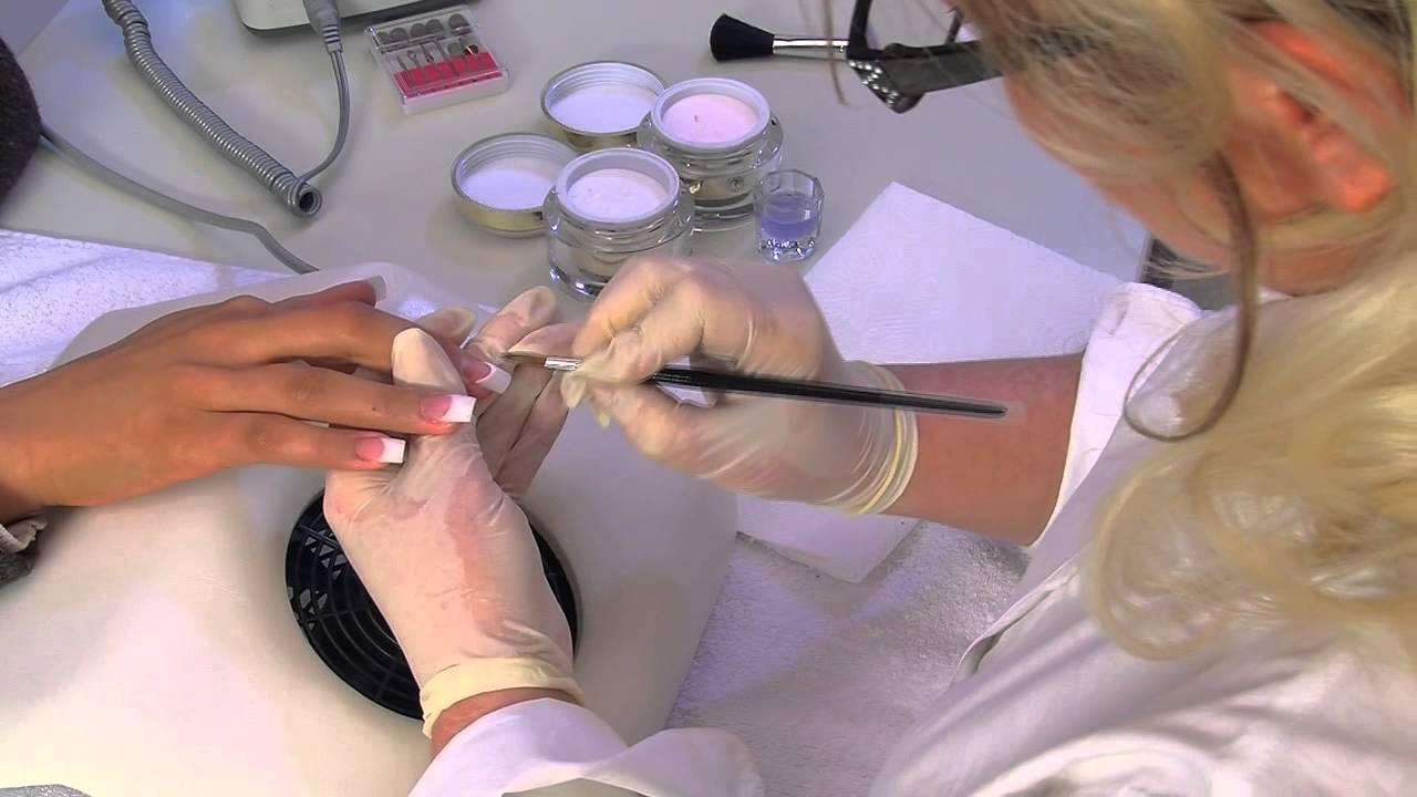 Acrylique Ongles Nouveau Modelage En Acrylique French Manucure