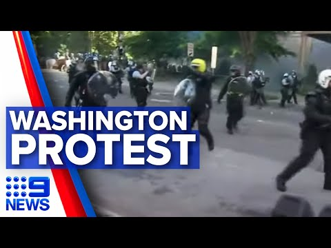 Washington protests: Police