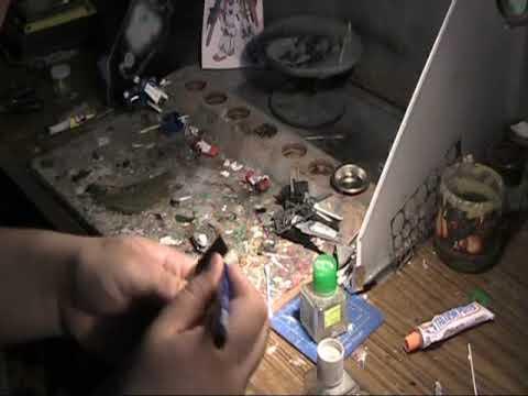 Gundam/ mech model workshop 04: Tutorial easy modification (knee joint ZZ Gundam) part 1 of 2
