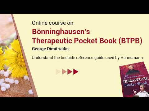 Homeopathy Course: Boenninghausen's Therapeutic pocketbook by George Dimitriadis