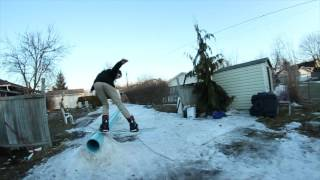 77club backyard snowboard edit