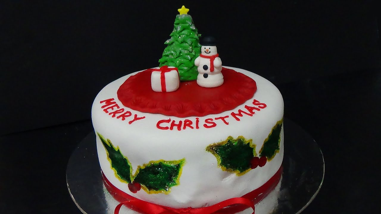 How to make christmas cake - How To Make Cake Merry Christmas