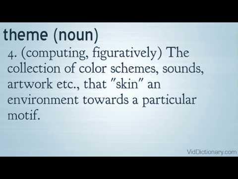 theme - definition