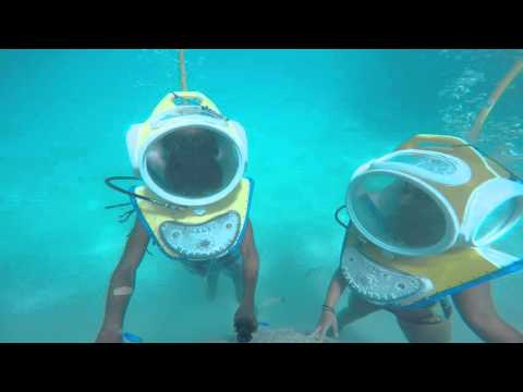 Under water fun Moorea French Polynesia
