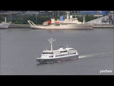 High angle - Navy Auxiliary Ship of JMSDF: JS HASHIDATE (ASY 91)  迎賓艇(特務艇)「はしだて」