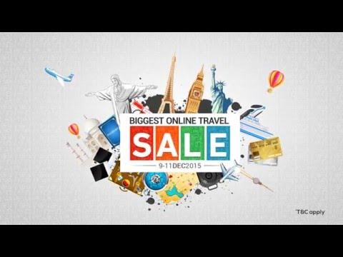 Biggest Online Travel Sale – 9-11 Dec – Via.com