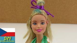 Cool účes pro Barbie - half up half down