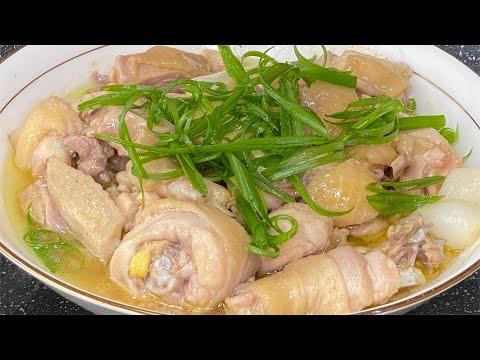 清蒸鸡肉的最简单方法 天气炎热很适合做这道鸡肉,不煎不炒,香鲜嫩滑,还不容易上火