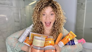 DRUGSTORE CURLY HAIR PRODUCT BATTLE & REVIEW | Cantu vs SheaMoisture