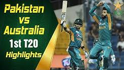 Pakistan Vs Australia 2018 | 1st T20I | Highlights | PCB