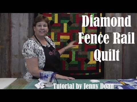 Make an Easy Fence Rail Diamond Quilt - Quilting Quickly With Jenny