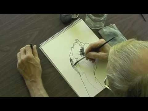 Drawing With A Calligraphy Pen And Water Wash Youtube: drawing with calligraphy pens