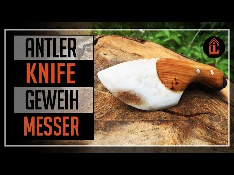ÜL#27 MESSER aus Geweih bauen| Knife making of antler| Messerbau| knifemaking | bushcraft knife